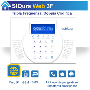 Centralina Siqura Web, centrale Tripla Frequenza, Internet + GSM