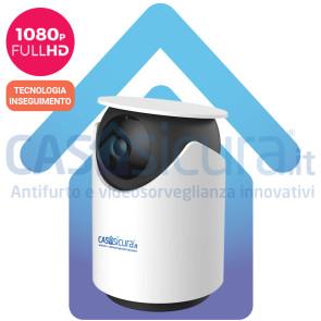 """Telecamera IP wifi pan/tilt 360° motorizzata ULTRA HD 8.0 con tecnologia """"inseguimento"""" ed intelligenza artificiale"""
