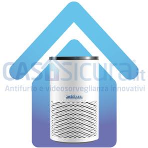 Purificatore aria, U.T.A. depuratore smart con app, fino a 220 m³, filtro HEPA H13 a 4 strati, silenzioso, ai carboni attivi e ioni d'argento, NO ozono