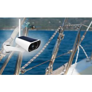 Telecamera per barca 4g senza fili a batteria - Funziona con SIM e senza corrente