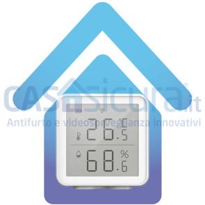 Termometro con rilevatore umidità smart, igrometro, completamente a batteria, wireless, gestibile tramite app, senza HUB