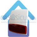 Sirena con lampeggiante da esterno 100% senza fili con ripetitore visivo di stato