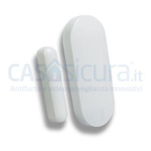 Sensore contatto magnetico porta finestra BIANCO con tecnologia