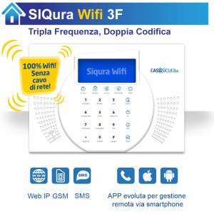 Centralina Siqura Wifi (senza cavo di rete), centrale Tripla Frequenza, Internet + GSM