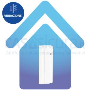 Sensore inerziale sismico (vibrazione e rottura vetri) modello SLIM