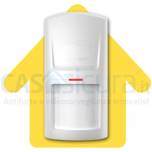 Sensore di movimento PIR senza fili extra durata ed affidabilità