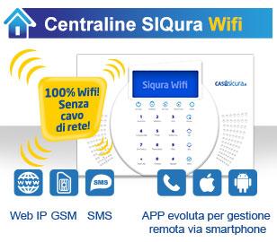 Siqura wifi internet senza fili gsm sms centraline - App casasicura ...
